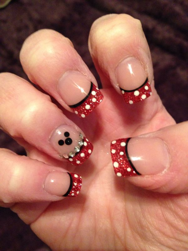 Disney Nails Art Minnie Mouse And Mickey