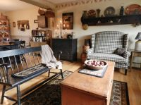 Living room/dining room | Primitive Decorating | Pinterest