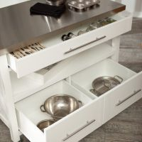 Portable island storage drawers | Kitchens | Pinterest