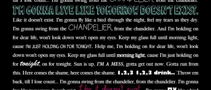 Chandelier sia lyrics sia lyrics sia chandelier sia chandelier sia chandelier quotes quotesgram aloadofball Image collections