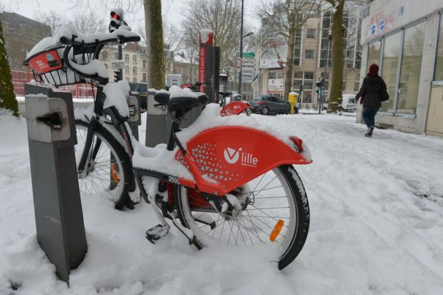 V'Lille sous la neige pour Noël | Fixie Lille