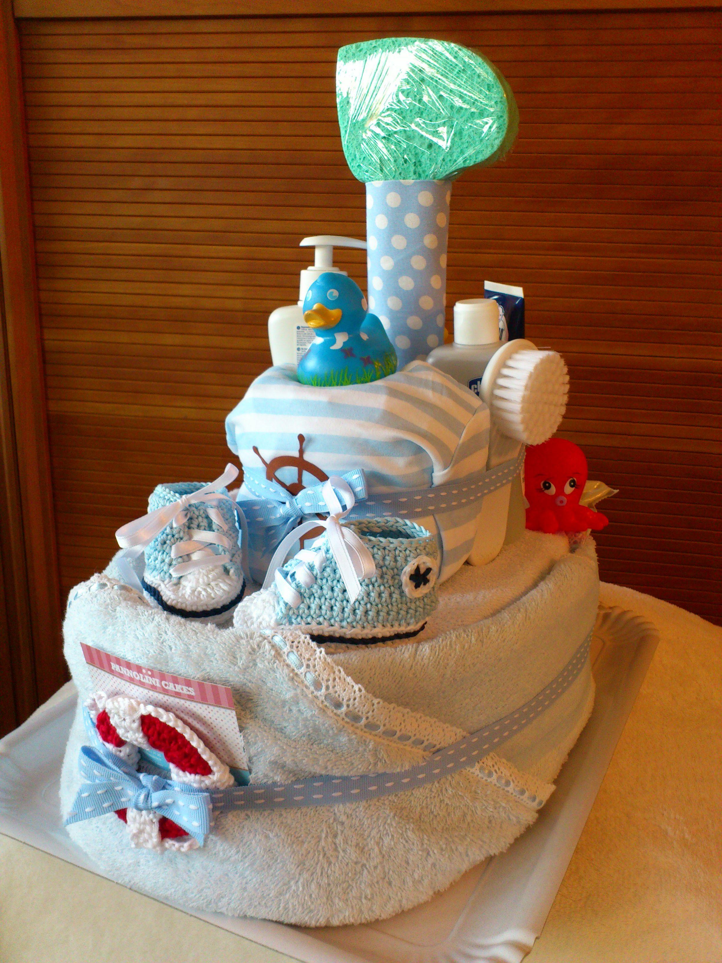 Ship Diaper Cake Instructions