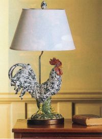 Rooster lamp | Chicken/Rooster decor ideas | Pinterest