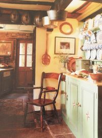 Country cottage kitchen   country cottage love   Pinterest