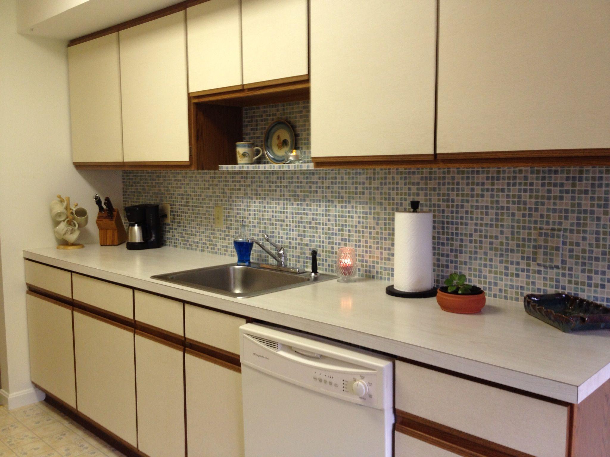 wallpaper kitchen backsplash latest designs faux tile pinterest