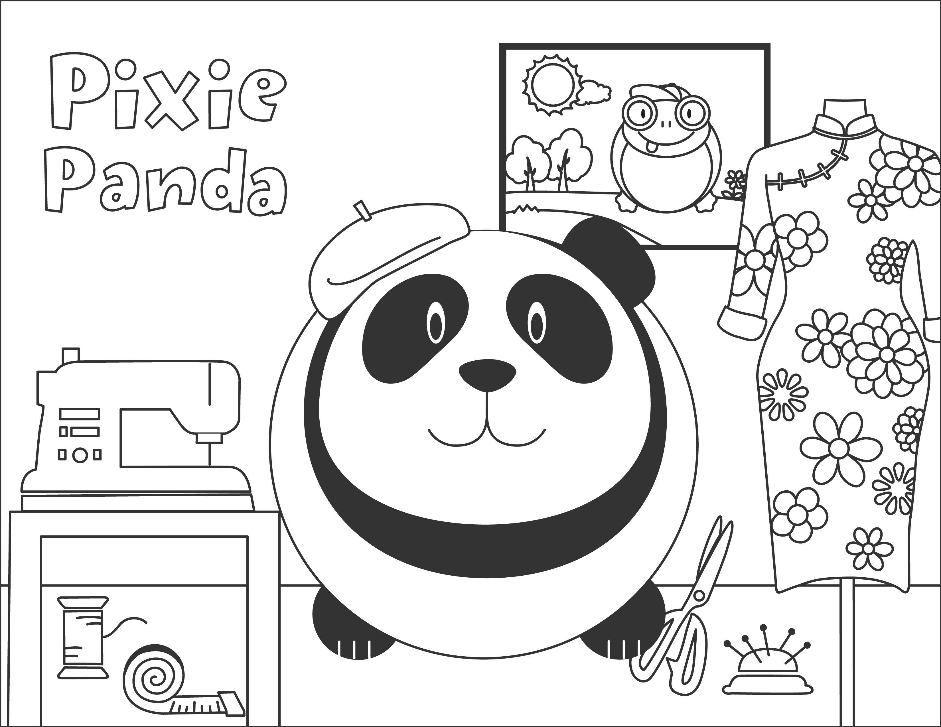Pixie Panda Bumpidoodle Coloring Page
