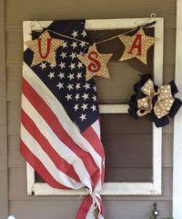 Patriotic decor for front door. | Holiday ideas | Pinterest