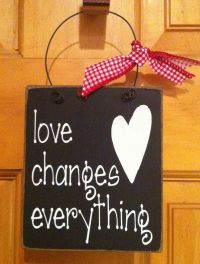 Love changes everything wire hanger   Wire Clothes Hanger ...