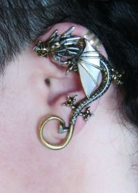 Metal Dragon Brass and Silver Ear Cuff