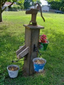 Old Wooden Water Well Pump