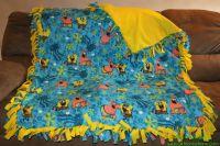 Spongebob yellow Tie Blanket | willis | Pinterest