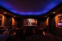Theater room fiber optic ceiling | Luxury Life | Pinterest