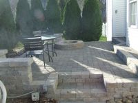 Paver Patio with fire pit. | DESIGNS | Pinterest