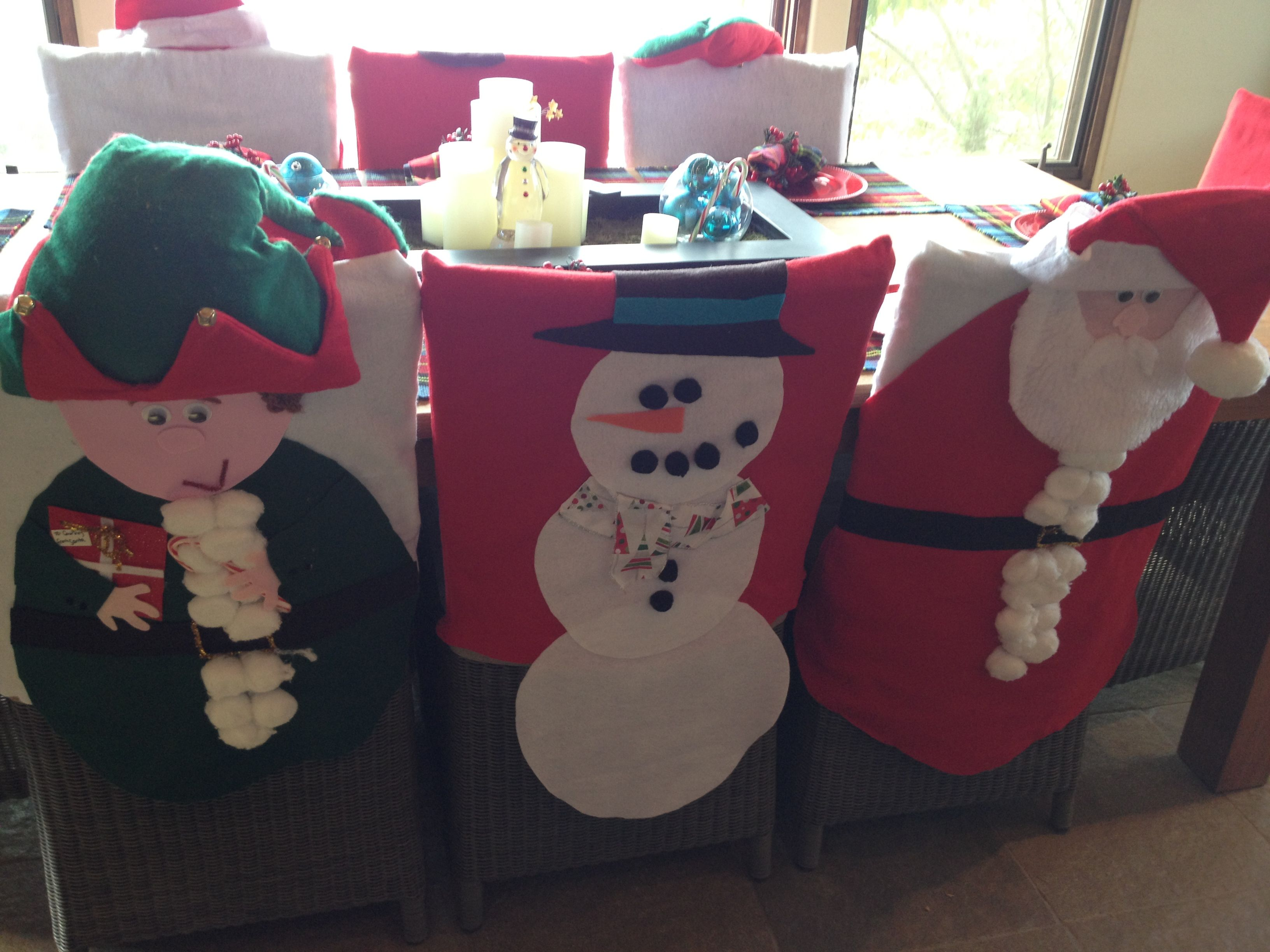 christmas elf chair covers graco blossom high winslet holiday felt and hot glue snowmen