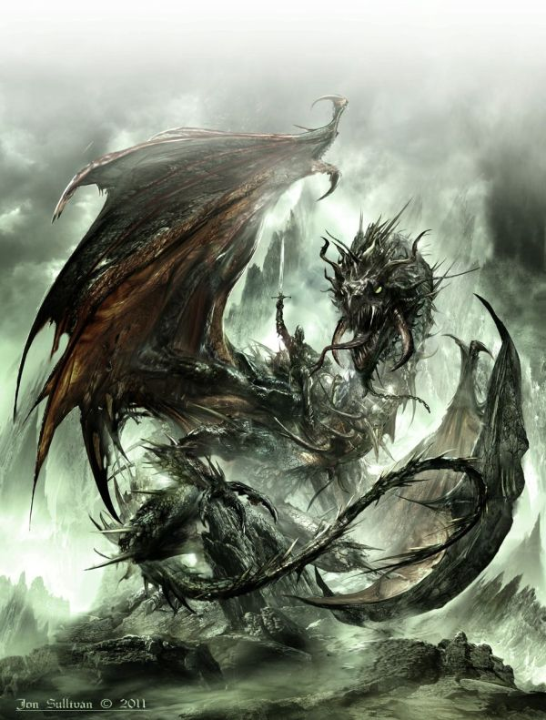 Majestic Black Dragon. Otherworld