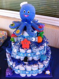 Diaper cake for boy baby shower   Craft Ideas   Pinterest