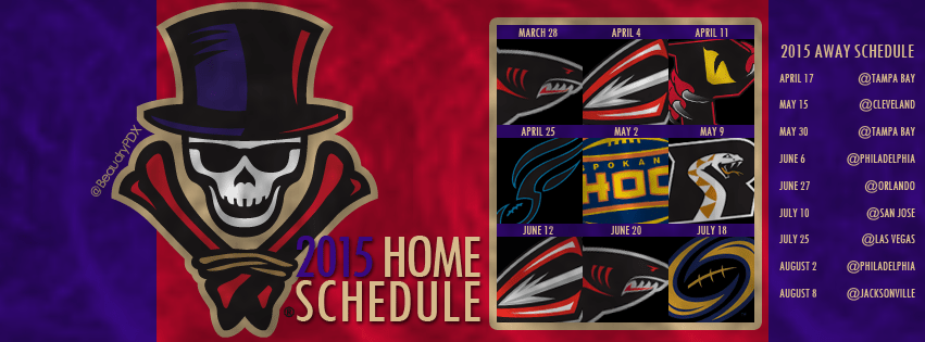 2015 New Orleans Voodoo Schedule Cover Image