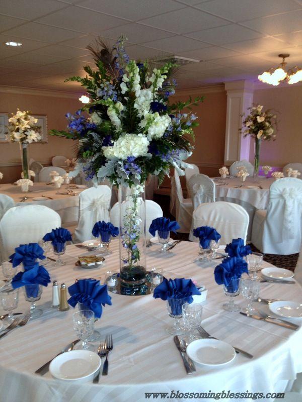 Royal Blue Wedding  Reception Centerpieces  Pinterest