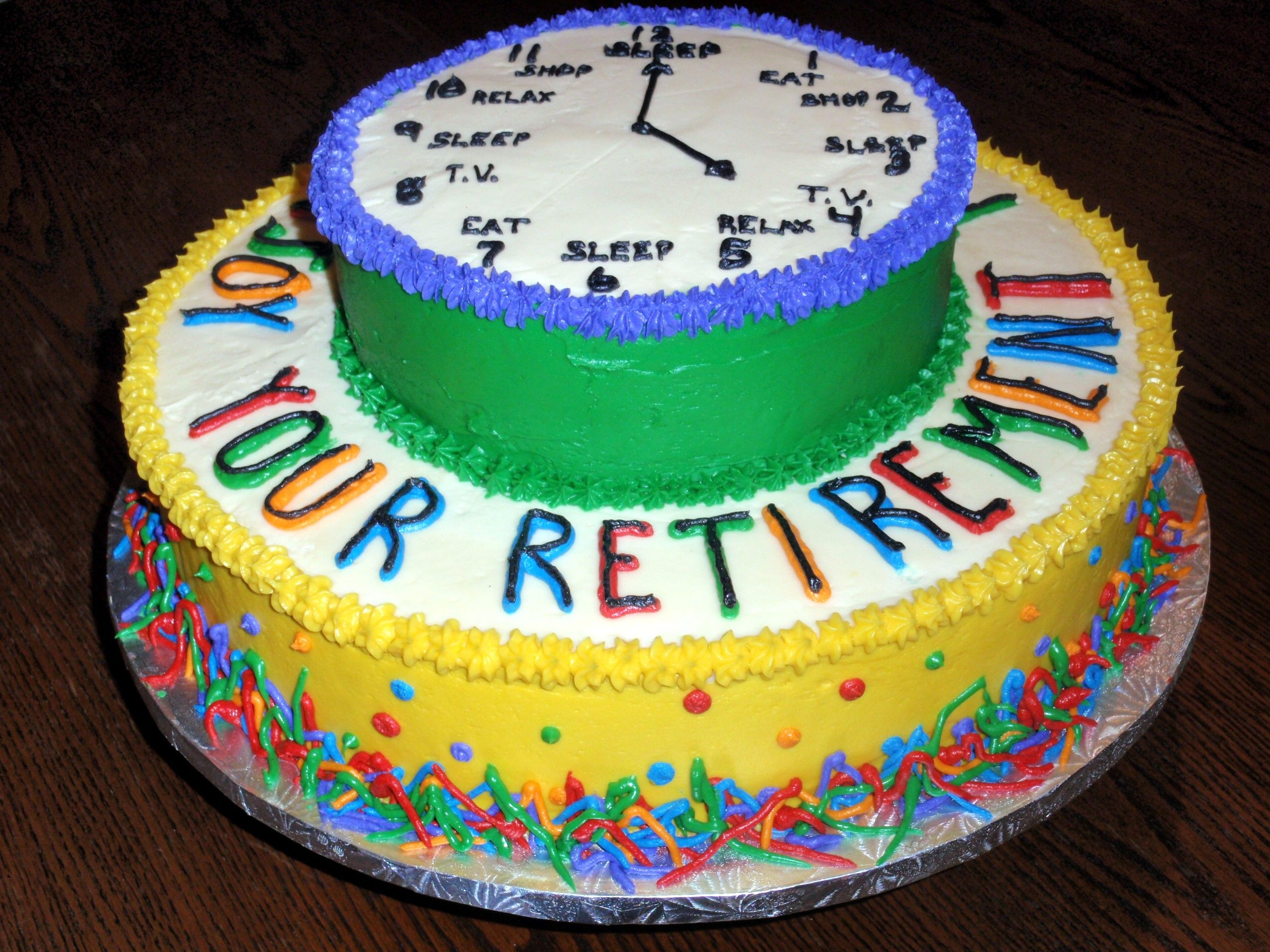 Retirement Cake Decorating Cake Ideas And Designs