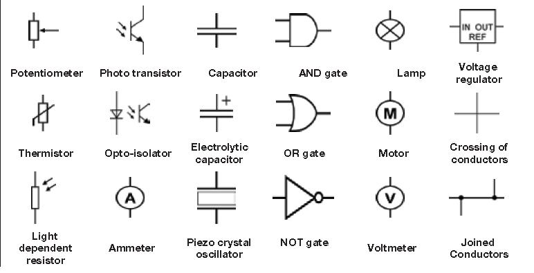 explain schematic and wiring diagrams 7 pin trailer flat plug diagram australia circuit symbols | electronic components pinterest