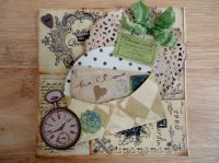 Shabby chic hello card   Paper crafts   Pinterest