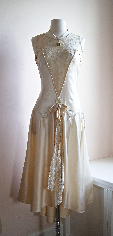 vintage 1920s wedding dress  1920s Costuming  Pinterest