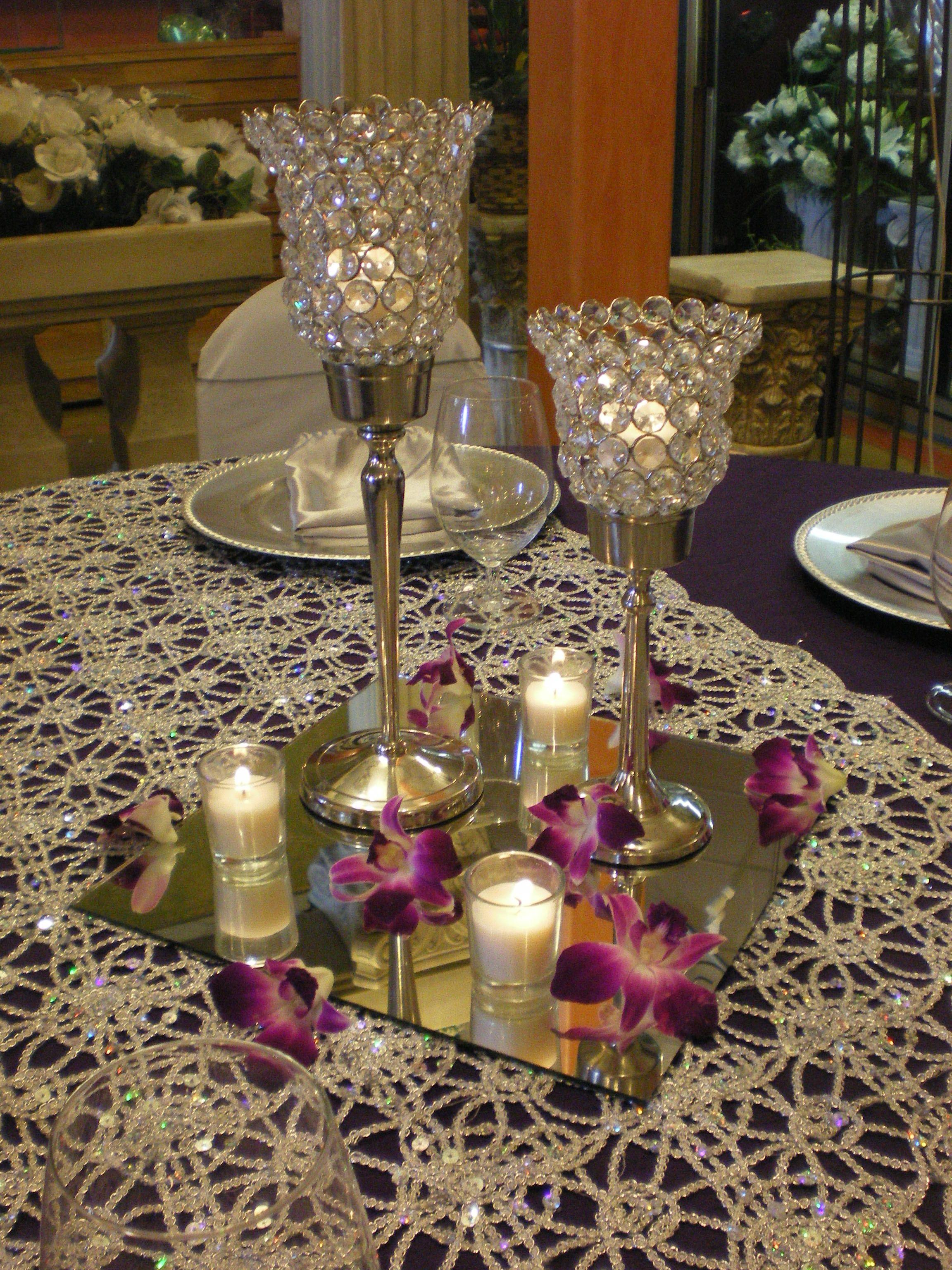 Votive Candle Centerpiece  Guest TablesCenterpieces  Pinterest