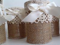 Burlap and lace | Burlap Crafts/Decor | Pinterest