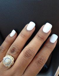 White Acrylic Nails #powder pretty long | Makeup&Hair ...
