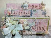 Shabby Chic craft caddy | shabby altered projects | Pinterest