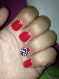 Rebel Flag Nail Designs | www.imgkid.com - The Image Kid ...