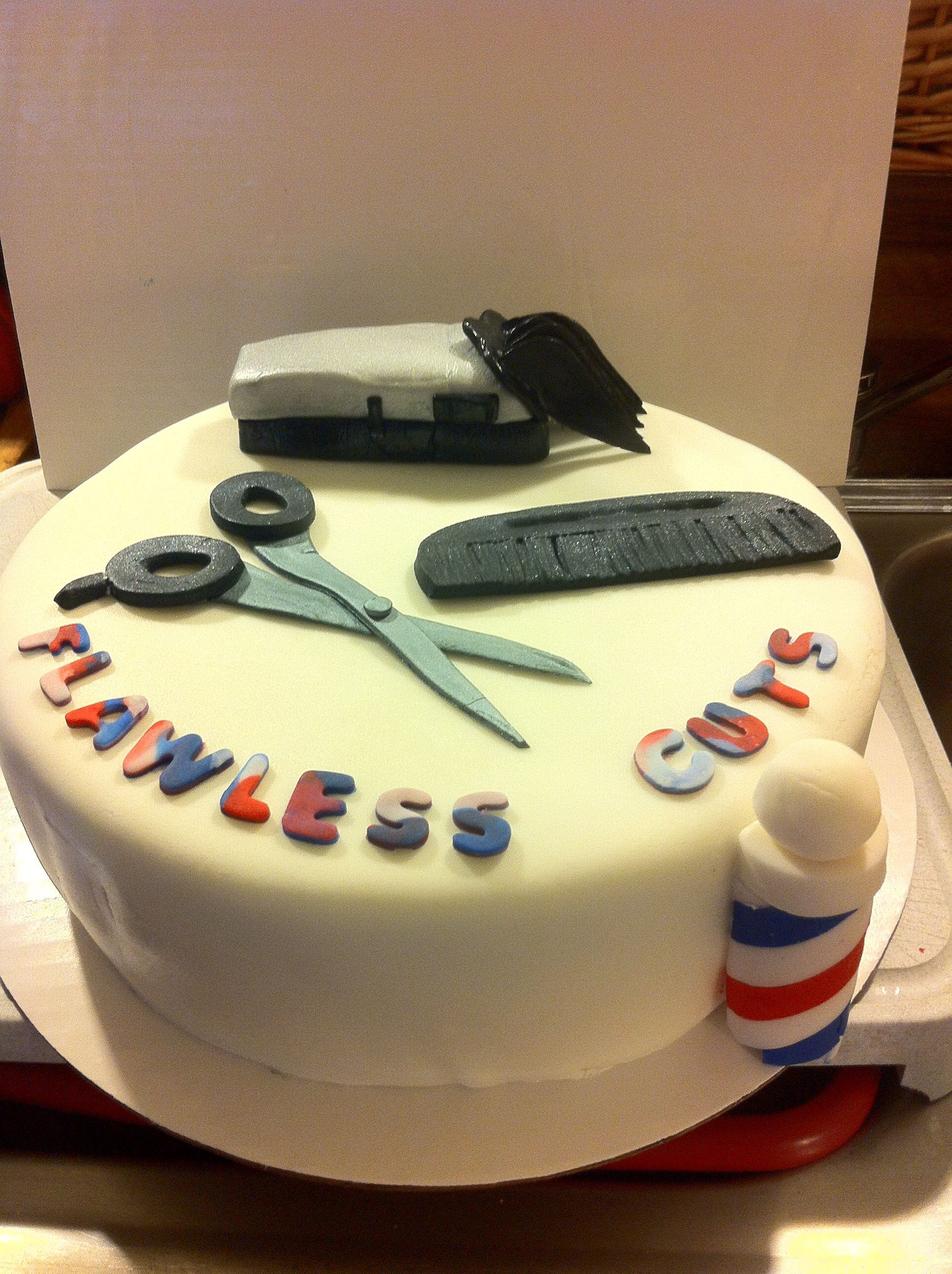 Barber Shop Designs Cake Ideas And Designs