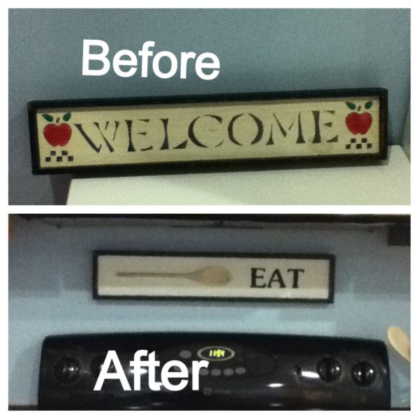 Cheap Sign Goodwill Repurposed Thrift Store Ideas