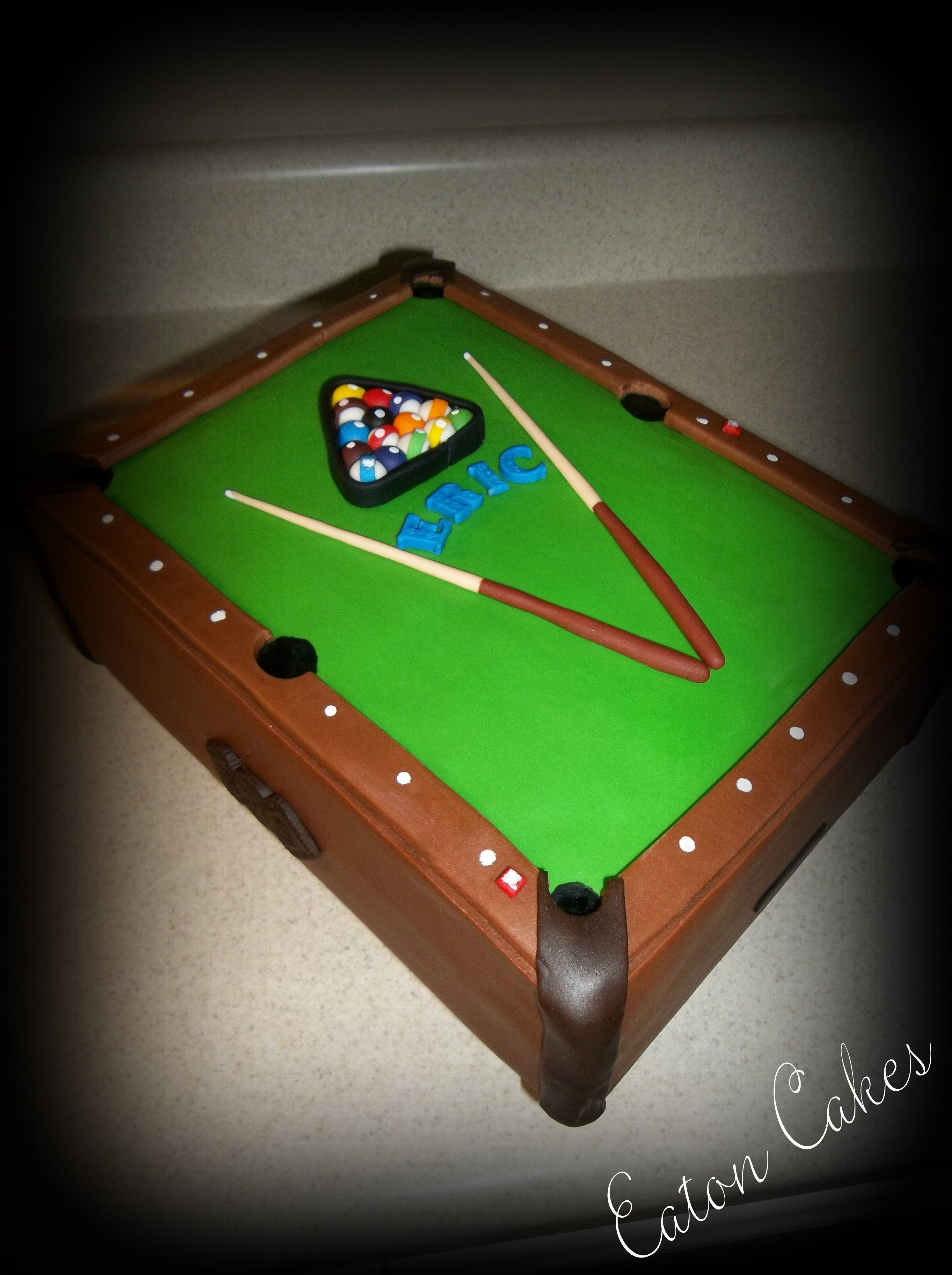 Pool table cake  my cake inspirations  Pinterest