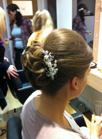 With gypsophila instead of clip | Wedding Hair & Make-Up ...