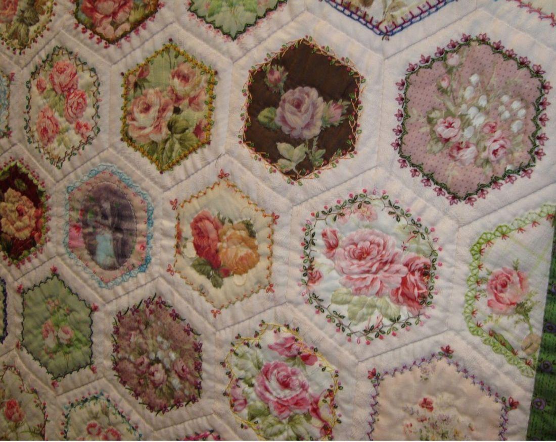 Beautiful crazy hexagon quilt quilting pinterest