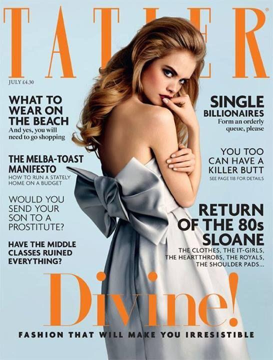 a8776cb41393 Tatler Magazine UK features model Charlie Newman