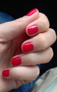 Short red nails | My Style Pinboard | Pinterest