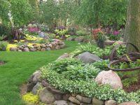 Hosta rock garden   Garden Ideas   Pinterest