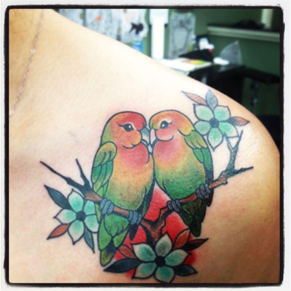 tattoo #lovebirds feminine