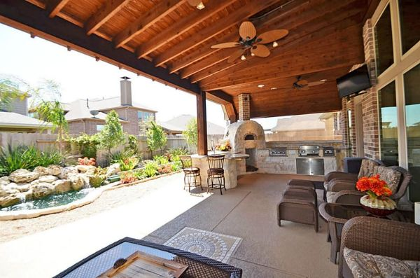 outdoor kitchen covered patio Covered patio + outdoor kitchen combo | For the Home