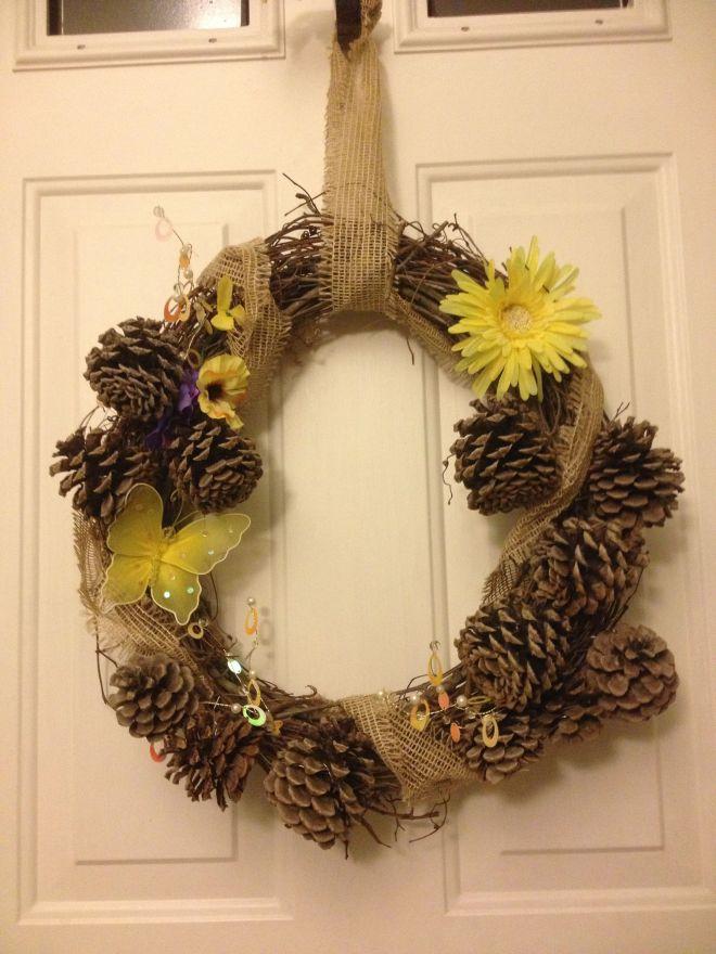 Diy summer country wreath wreaths pinterest