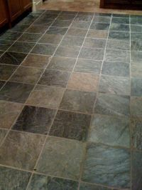 Bathroom flooring - slate tile | Home Style | Pinterest