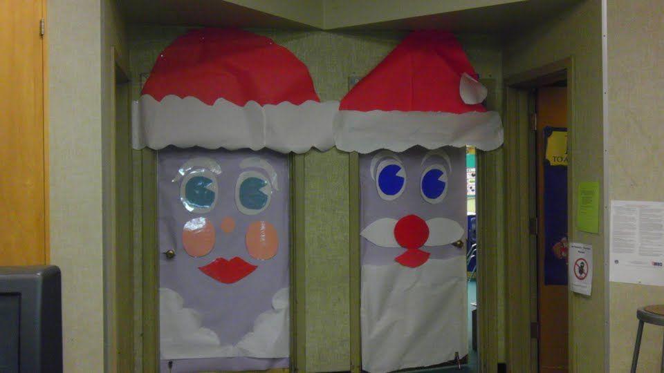 santa claus door decoration