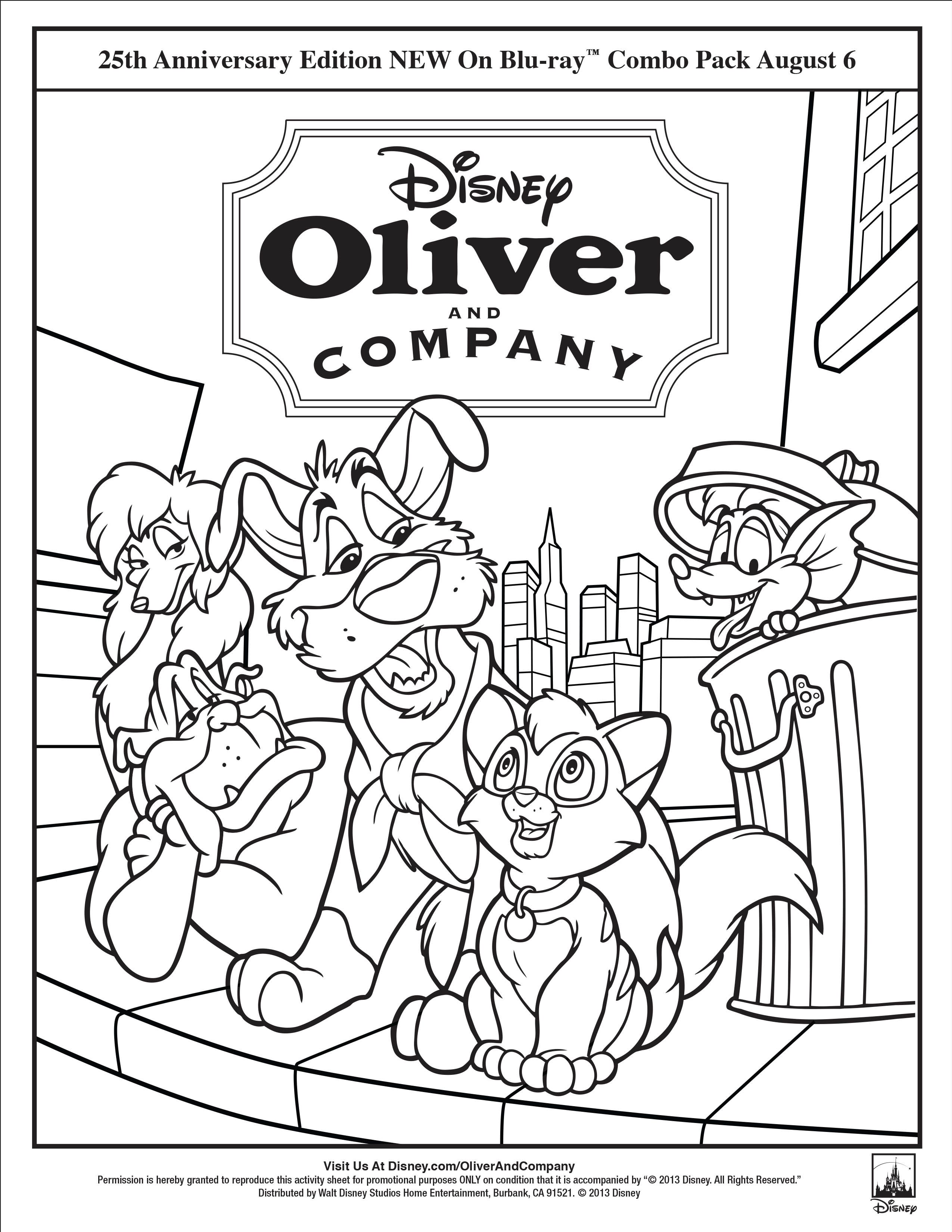 Celebrate the upcoming release of the Oliver & Company
