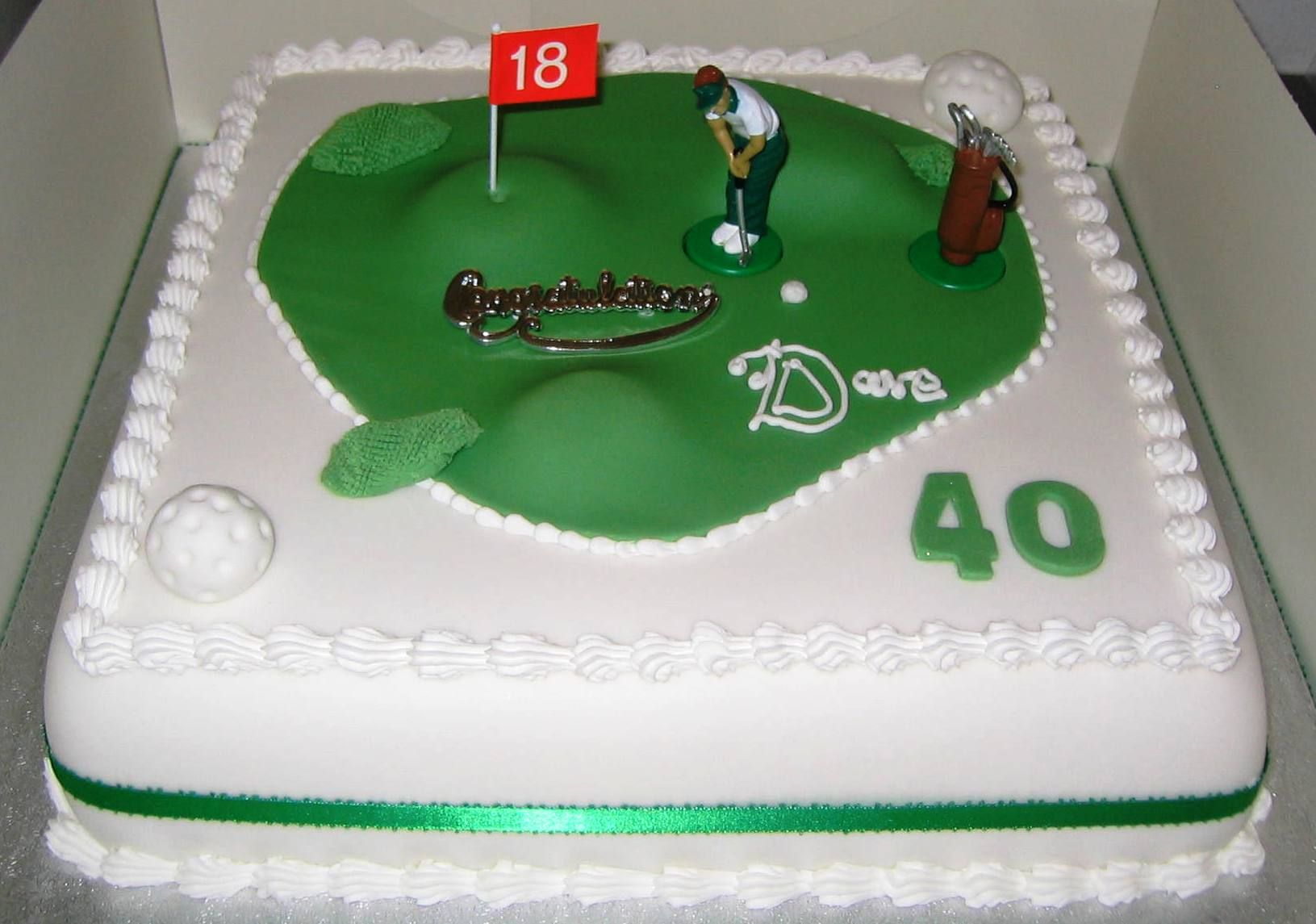 Golf Birthday Cake Decorating Ideas
