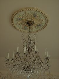 Hand Painted Ceiling medallion | Chandeliers Lanterns ...