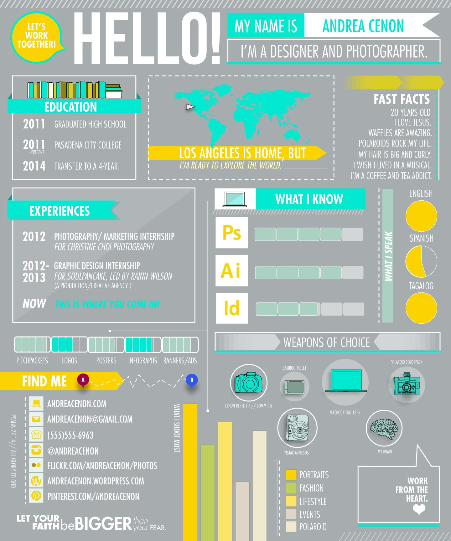 Infographic Resumes Infographic Resume Design Pinterest
