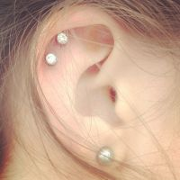 The gallery for --> Double Cartilage Piercing Earrings