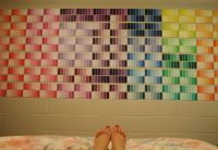 Paint swatch dorm wall decor!